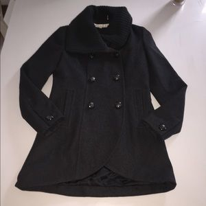 Kenneth cole jacket wool coat pea sweater collar 4